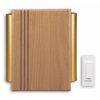 Heath Zenith Solid Oak with Natural Finish Wireless Doorbell Kit