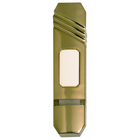 Heath Zenith Wireless Polished Brass Doorbell Button (Batteries Included)
