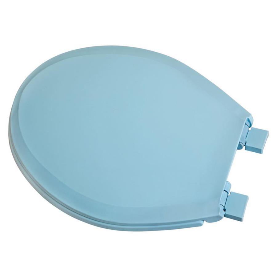 shop centoco blue plastic round slow close toilet seat at