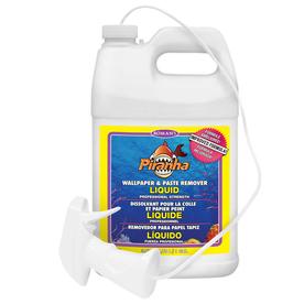 Shop piranha liquid 128 oz wallpaper remover at for Wallpaper paste home hardware