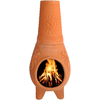 PR Imports 45-in H x 18.5-in D x 18.5-in W Clay Clay Chiminea