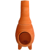 PR Imports 52-in H x 19.5-in D x 19.5-in W Clay Clay Chiminea