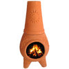 PR Imports 32-in H x 16.75-in D x 16.75-in W Clay Clay Chiminea