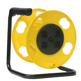 Bayco 100-ft 4-Outlet Plastic Cord Reel