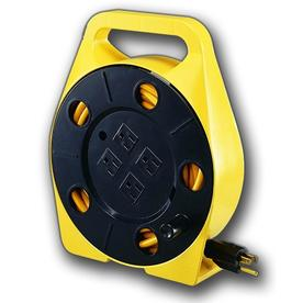 Bayco 25-ft 4-Outlet Plastic Retractable Cord Reel