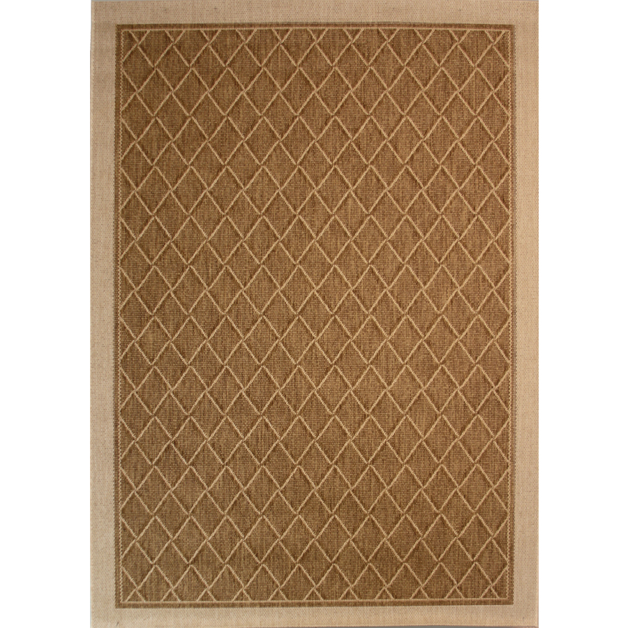 Shop Society Page Rectangular Brown Geometric Indoor ...