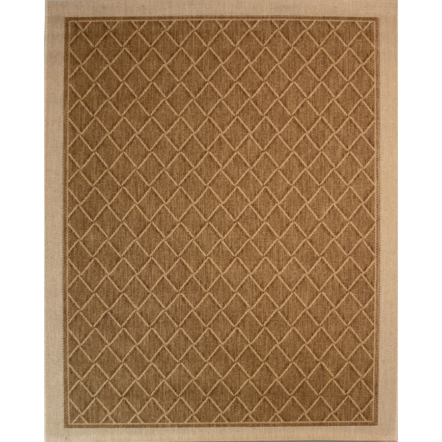 Shop society page rectangular brown geometric indoor for Woven vinyl outdoor rugs
