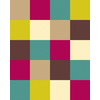 Balta Flash 3-ft 11-in x 5-ft 3-in Rectangular Multicolor Block Area Rug