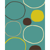 Balta Flash 3-ft 11-in x 5-ft 3-in Rectangular Aqua Geometric Area Rug