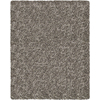 Balta Luxury Shag 7-ft 10-in x 10-ft Rectangular Gray Solid Area Rug