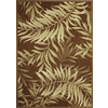 Palm Leaf Havanah Rectangular Indoor/Outdoor Machine-Made Nature Area Rug (Common: 5 x 8; Actual: 63-in W x 89-in L)