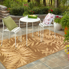 Palm Leaf Rectangular Indoor and Outdoor Woven Area Rug (Common: 8 x 10; Actual: 94-in W x 120-in L)