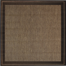 New Haven Havanah and Black Square Indoor/Outdoor Machine-Made Area Rug (Common: 7 x 7; Actual: 81-in W x 81-in L)