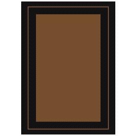 New Haven Havanah and Black Rectangular Indoor/Outdoor Machine-Made Throw Rug (Common: 2 x 3; Actual: 24-in W x 36-in L)