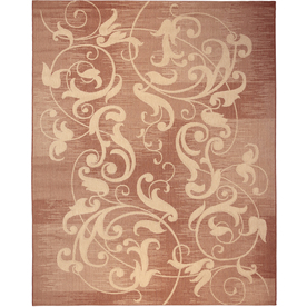 Kannapolis Terracotta and Sand Rectangular Indoor/Outdoor Machine-Made Area Rug (Common: 8 x 10; Actual: 94-in W x 120-in L)