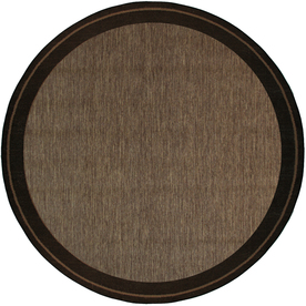 New Haven Havanah and Black Round Indoor/Outdoor Machine-Made Area Rug (Common: 7 x 7; Actual: 81-in W x 81-in L x 7-ft Dia)