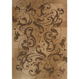 Kannapolis Chestnut Rectangular Indoor/Outdoor Machine-Made Area Rug (Common: 8 x 10; Actual: 94-in W x 120-in L)