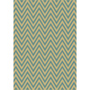 Balta Kesswood Blue Chevron Light Blue Rectangular Indoor/Outdoor Woven Area Rug (Common: 6 x 9; Actual: 78-in W x 114-in L)