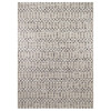 allen + roth Charcoal Rectangular Indoor and Outdoor Woven Area Rug (Common: 7 x 10; Actual: 94-in W x 120-in L)