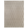 allen + roth Aberlee Taupe Rectangular Indoor Machine-Made Throw Rug (Common: 2 x 4; Actual: 42-in W x 42-in L)