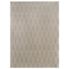 allen + roth Aberlee Taupe Rectangular Indoor Machine-Made Area Rug (Common: 4 x 6; Actual: 47-in W x 67-in L)