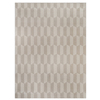 allen + roth Aberlee Tonal Creme and White Rectangular Indoor Machine-Made Area Rug