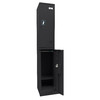 edsal 12-in W x 72-in H x 18-in D Black Steel Storage Locker