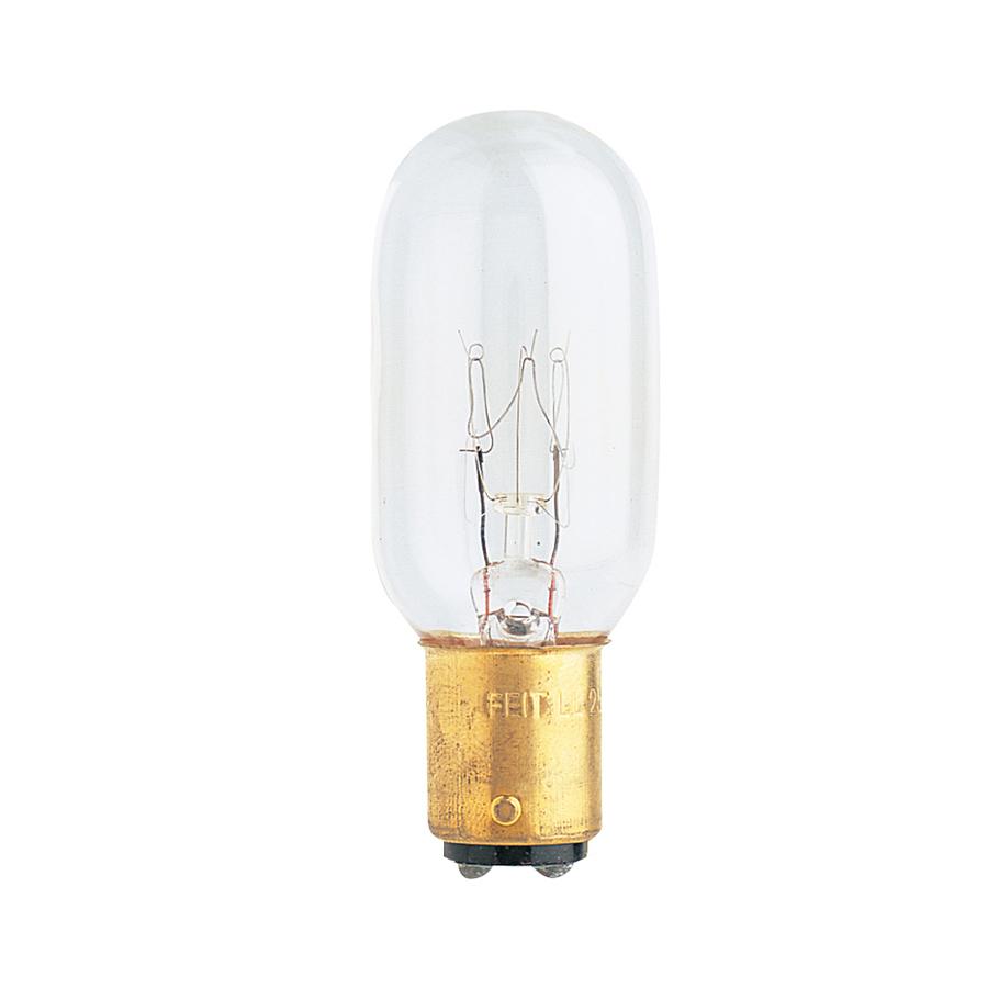 Shop Feit Electric 15 Watt T7 Medium Base Soft White Incandescent Appliance Light Bulb At