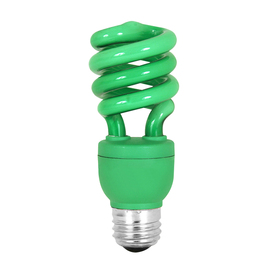 Mood-lites 13-Watt (60W) Spiral Medium Base Green (3000K) CFL Bulb
