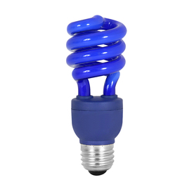 Mood-lites 13-Watt (60W Equivalent) Spiral Medium Base Blue (3000K) CFL Bulb