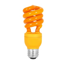 Mood-lites 13-Watt (60W Equivalent) Spiral Medium Base Orange (3000K) CFL Bulb