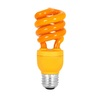 Mood-lites 13-Watt (60W) Spiral Medium Base Orange (3000K) CFL Bulb