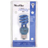 Mood-lites 13-Watt (60W) Spiral Medium Base Light Blue (3000K) CFL Bulb