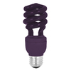 Mood-lites 13-Watt (60W) Spiral Medium Base Purple (3000K) CFL Bulb