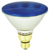 Mood-lites 90-Watt PAR38 Medium Base Blue Outdoor Halogen Flood Light Bulb