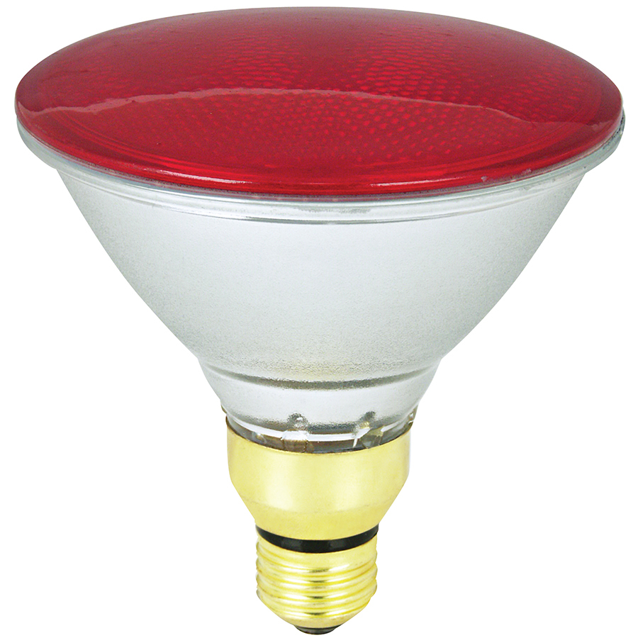 Shop Mood-lites 90-Watt PAR38 Medium Base Red Outdoor