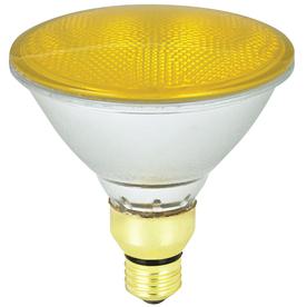 Mood-lites 90-Watt PAR38 Medium Base Yellow Outdoor Halogen Flood Light Bulb