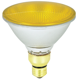 Mood-lites 90-Watt PAR38 Medium Base (E-26) Yellow Outdoor Halogen Flood Light Bulb