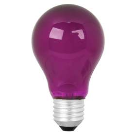 Mood-lites 25-Watt A19 Medium Base Purple Decorative Incandescent Light Bulb