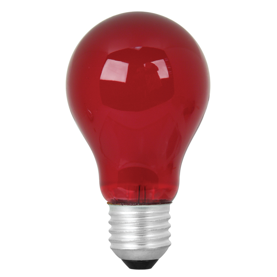 Shop Mood Lites 25 Watt Medium Base Red Decorative Incandescent Light Bulb At