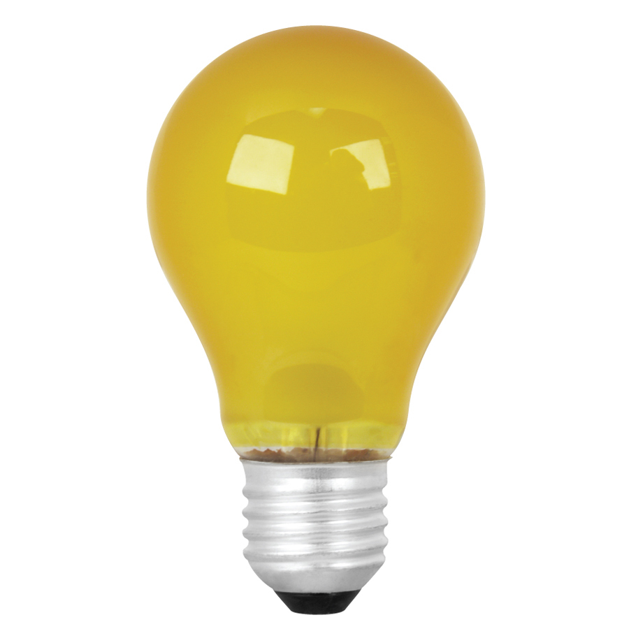 shop mood lites 25 watt a19 medium base yellow decorative incandescent light. Black Bedroom Furniture Sets. Home Design Ideas