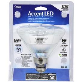 Shop Feit Electric 3 3 Watt 0W Equivalent Par38 Soft White Outdoor LED Floo
