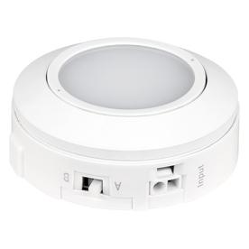 shop utilitech pro 3 in plug in under cabinet led puck light at lowes. Black Bedroom Furniture Sets. Home Design Ideas
