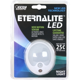 Feit Electric White LED Night Light with Motion Sensor and Auto On/Off