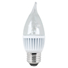 Utilitech 7.5-Watt (60W Equivalent) 3,000K Medium Base (E-26) Warm White Dimmable Decorative LED Light Bulb