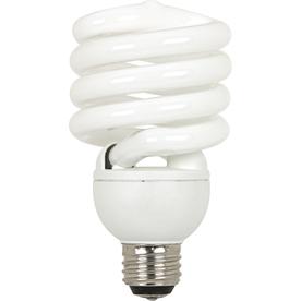 Utilitech 32-Watt (150 W Equivalent) Spiral Medium Base Daylight (5000K) 3-Way CFL Bulb
