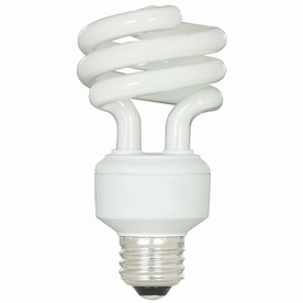 Utilitech 4-Pack 18-Watt (75 W Equivalent) Spiral Medium Base Daylight (5000K) CFL Bulbs ENERGY STAR