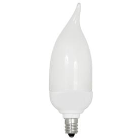 Utilitech 7-Watt (40W) Candelabra Base Daylight (5000K) Decorative CFL Bulb