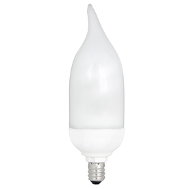 Utilitech 7-Watt (40W) Candelabra Base Bright White (3500K) Decorative CFL Bulb ENERGY STAR