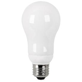 Utilitech 2-Pack 15-Watt (60W Equivalent) 2,700K A19 Medium Base (E-26) Soft White CFL Bulb ENERGY STAR